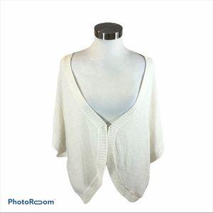 Sag Harbor Ladies Wide Sleeve White Sweater 3XL